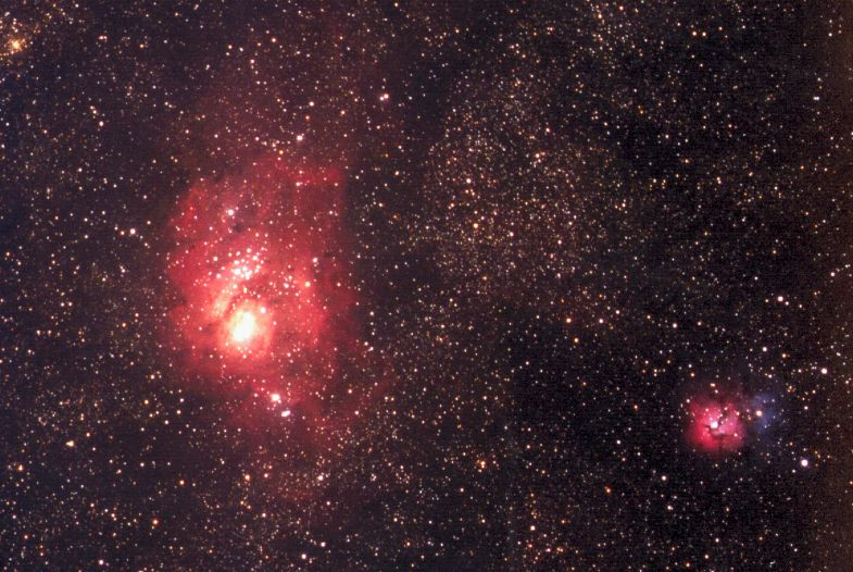 trifid and lagoon nebula - photo #19