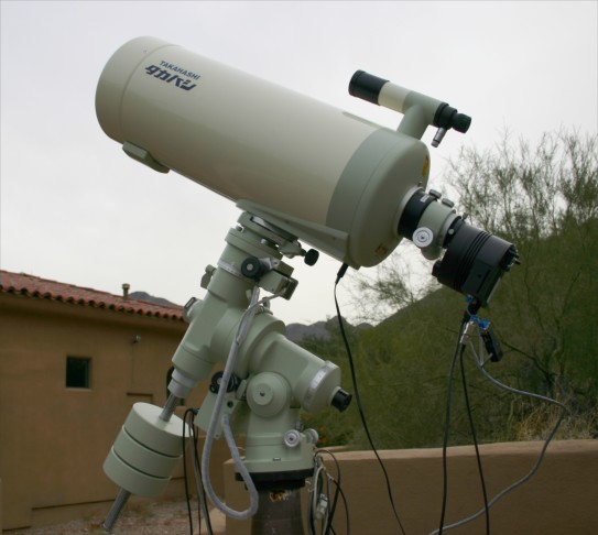 Mewlon 250 Telescope - side view