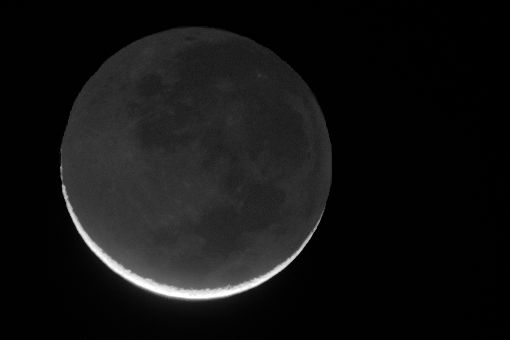 Earthshine on the Moon