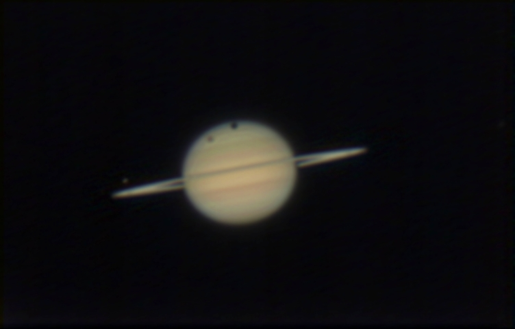 Saturn with Titan shadow transit