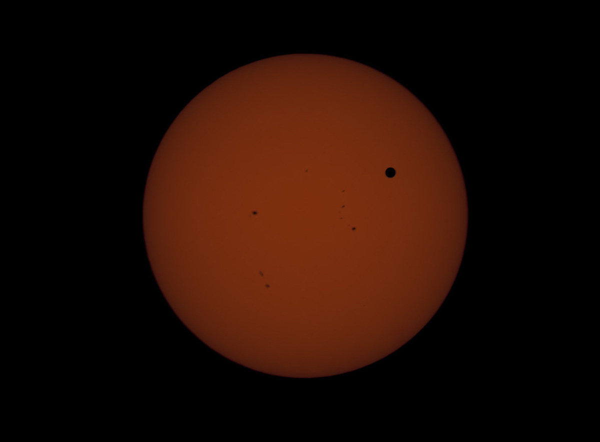 Venus in transit across the Sun - June 5, 2012